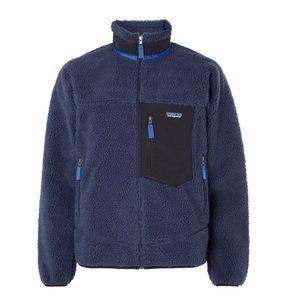 NEW Patagonia Retro X Shell Blue Fleece Jacket